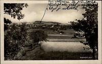 Neveklov Tschechien s/w Postkarte 1931 Panoramablick auf die Stadt Gesamtansicht