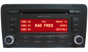 Audi A3 Concert CD Radio MP3 Unit +Radio Code Removal Keys Warranty Premium Part