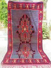 "Vintage Moroccan Rug Handmade Azilal Rug Berber Tribal Rug Wool rug  6'2"" x 3'2"""