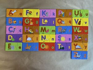 Fisher-Price•Match Ups Puzzle•2pc•Alphabet Puzzles•Mint Condition•52 Pieces
