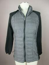 32 Degrees Size M Gray Womens Full Zip Down Insulated Quilted Jacket 658