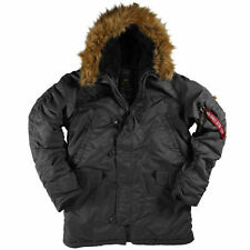 Alpha Industries Men's N-3B Parka,  Black, X Large