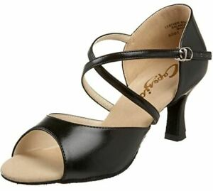 Capezio Women's Black Dance Ballroom Sandal Size US 9.5M UK 7.5M EUR 10 RRP $139