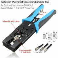 """.324//.255//.213//.10//.068/"""" Pliers Crimping Tool for RG58 RG59 RG6 SMA UHF RCA BNC"""