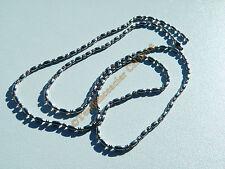 Chaine Collier 60 cm Argenté Acier Inoxydable 2 mm Boule Strié Haricot Arrondie