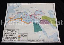 Affiche scolaire Colonie Grecque Phénicienne Egypte Assyrie Chaldée Rossignol