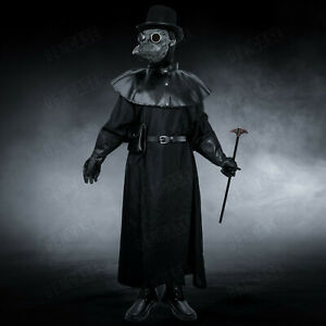 Plague Doctor Costume Full Steampunk Halloween Masquerade Mask Cosplay Costume