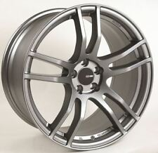 17x8 Enkei TX5 5x120 +35 Platinum Grey Rims Fits BMW 325I 2000-2005