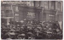 London; Petticoat Lane Clothes Auction PPC,  c 1910, Shows Busy Market