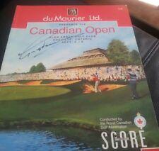 1991 Canadian Open Golf Program SIGNED Greg Norman + 4 more