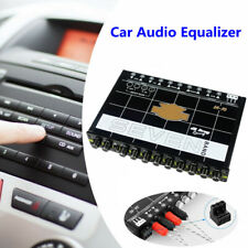 7Band Car Equalizer Audio Modified Graphic Equalizer EQ w/ Front Rear+Sub Output