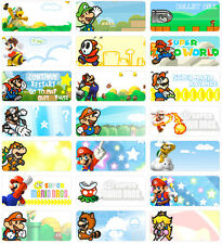 36 Super Mario 3x1.3cm Personalised Name Label Sticker Self Adhesive vinyl Bros