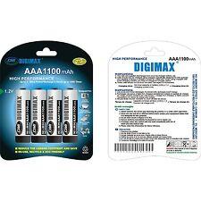 12x Digimax Ultra High Capacity AAA LR3 UM4 1100 mAh Rechargeable Batteries SALE