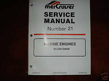 MERCRUSIER DEALER SERVICE MANUAL'S--ENGINES--5-6 CYL
