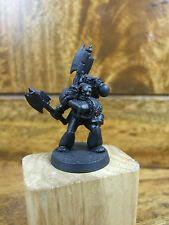 CLASSIC METAL ROGUE TRADER ERA SPACE MARINE WITH TWO AXES BASE PAINTED (2254)