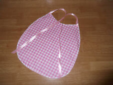ADULT BABY~SISSY~MAIDS~ UNISEX~  COTTON GINGHAM PVC BACKED BIB