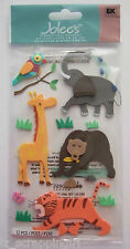 ZOO ANIMALS Jolee's Boutique 3D Dimensional Stickers Elephant Giraffe Tiger Bear