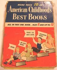 American Childhood Best Books Ages 8 12 Crayon 1942