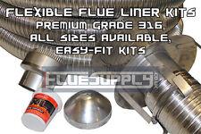 "Multifuel Stainless Steel Quality Flexible Chimney Flue Liner Fitting Kit 5"" 6"""