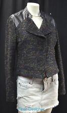 Anthropologie Willow and & Clay suit jacket moto blazer tweedy crop coat M NEW