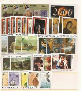 NEVIS- Small group of MNH stamps ( 32 stamps in total)