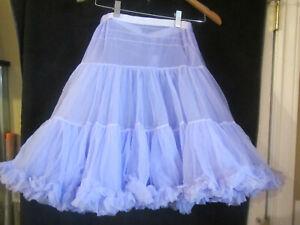 Knee Length CHIFFON NYLON Crinoline Petticoat sm/med/lar made  USA lilac