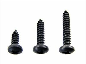 "Dodge Truck Black #8 Pan Head Trim Screws- 1/2"" to 1"" Long- 75 screws- #334"