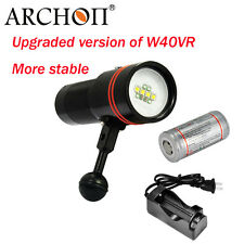 Archon D34V W40V Diving Underwater Video LED Flashlight 2600lm +Battery+charger