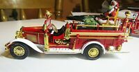 VINTAGE MATCHBOX YFE09 MOY 1932 FORD AA OPEN CAB FIRE ENGINE- SANTA CLAUS SLEIGH
