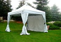 10 x10 R-3 COMMERCIAL Instant Canopy CRS Curtain-Wall Enclosure UnderCover