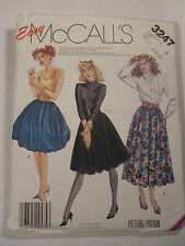 Mc-3247 Skirt Puff Effect Sewing Pattern McCall's Size 8-10-12 Cut & Complete
