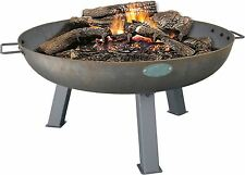 Cast Iron Garden Fire Pit Patio Heater Brazier With Handles - 870mm Diameter