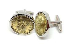 1948 Birthday 1948 Anniversary Threepence 3d coin cufflinks 72nd birthday slv