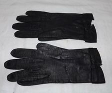 Pair of Vintage Black Leather Gloves Made in France for Neiman Marcus Size 6 1/4