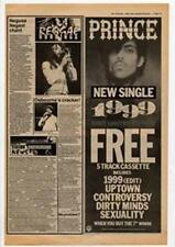 Prince 1999 Advert NME Cutting 1983