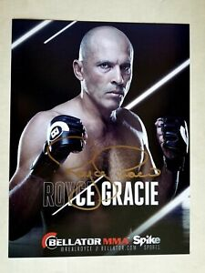 UFC HALL OF FAME AUTO LOT OF 5!! 8 x 10 OF GRACIE,MCGEARY,GUIDA,STITCH,+!!