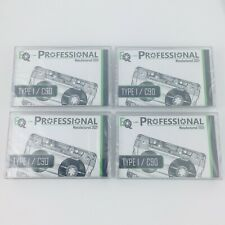 More details for professional eq retail c90 blank cassettes x 4 - manufactured 2021