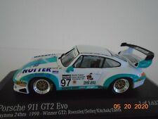 1/43 Porsche 911 GT2, 4th 1998 Daytona, Roessler, Seiler, Kitchak, Minichamps.