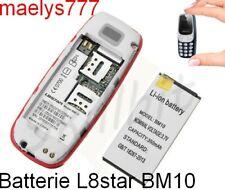 Batterie pour mini téléphone portable BM10 L8star GSM **capacité 350mAh  3,7**