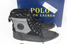 POLO RALPH LAUREN Size 8.5 D Tynedale Men's Leather Lace Up Boots Black/Grey