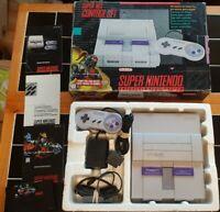 Super Nintendo SNES Console System Boxed Killer Instinct Complete Small Box
