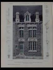 VICHY, MAISON - PLANCHES ARCHITECTURE 1905 - SAINT BONNET LE CHATEAU, LACAZE