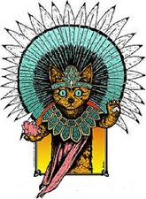 Aztec Cat STICKER Decal Poster Artist Jermaine Rogers PNE9