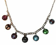 Marvel's Avengers 7 Themed Glass Dome Pendants on a 22 Inch Chain Necklace