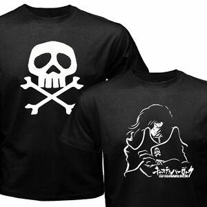 New Classic Retro Anime Space Pirate Captain Harlock Herlock Jolly Roger T-shirt