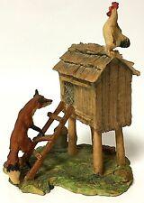 Rare Vintage Schmid Bfa Lowell Davis Up To No Good Fox & Hen Limited Figurine