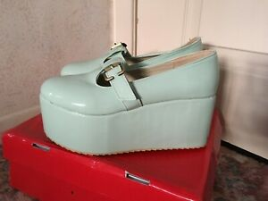 BNIB Platform mary Jane shoes mint green patent 4.5 - 5