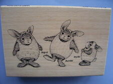 HOUSE MOUSE RUBBER STAMPS HAPPY HOPPERS  EASTER HARES STAMP