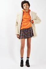 Topshop floral ditsy skirt - velvet flippy - multi - short/mini - size 4 petite.