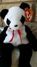 Panda Bear Fortune Ty Beanie Baby Retired  12/6/1997 Tush Error collectible rare